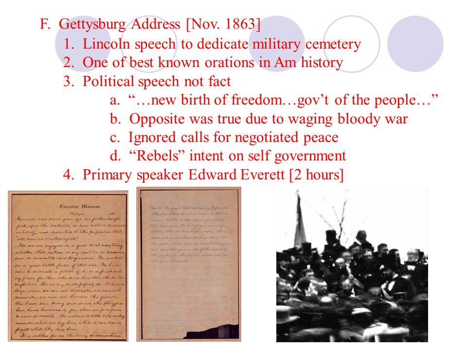 F. Gettysburg Address [Nov. 1863]
